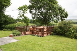 Decking area.