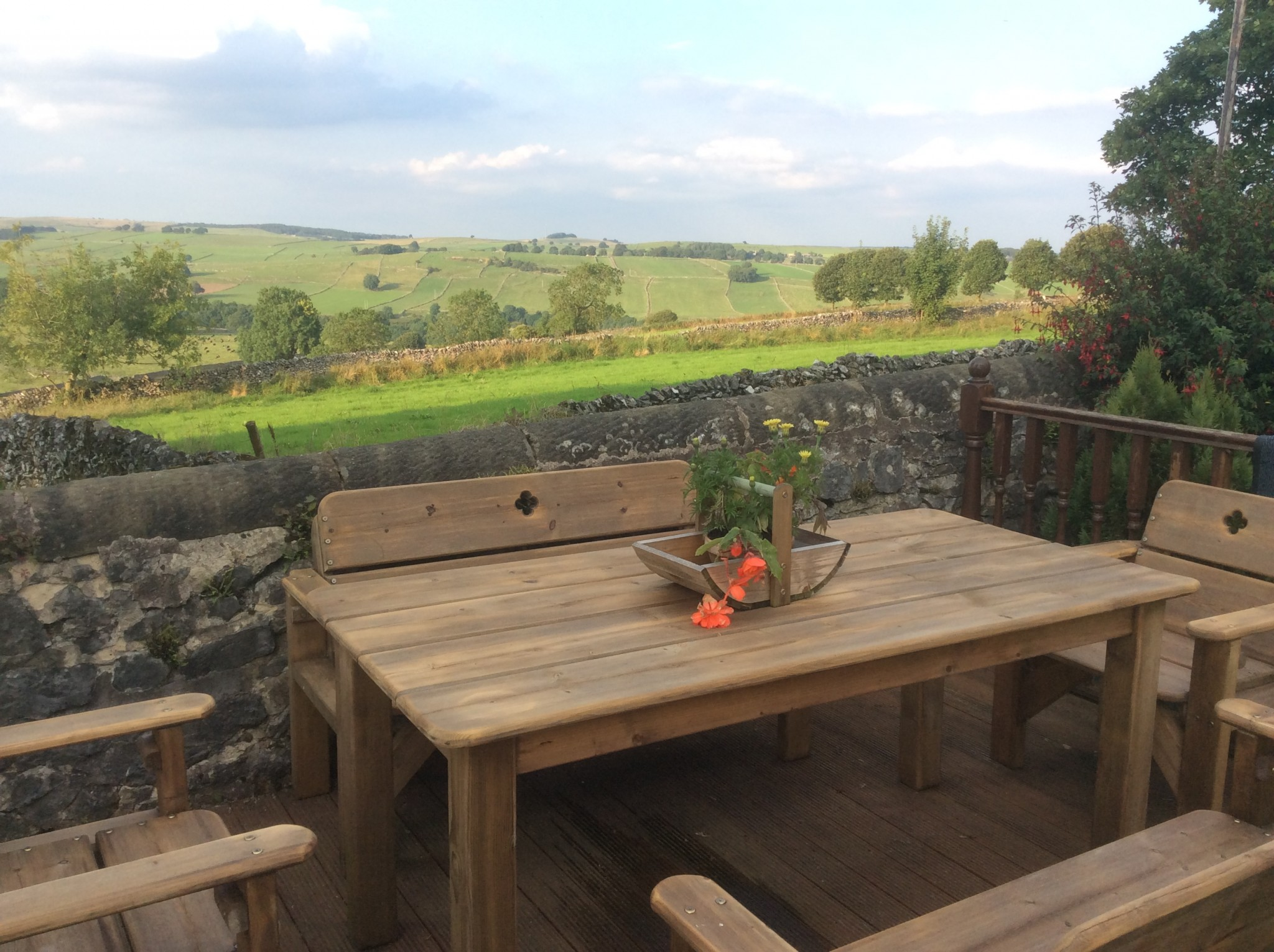 Superb rural views can be enjoyed from the cottage and decking.