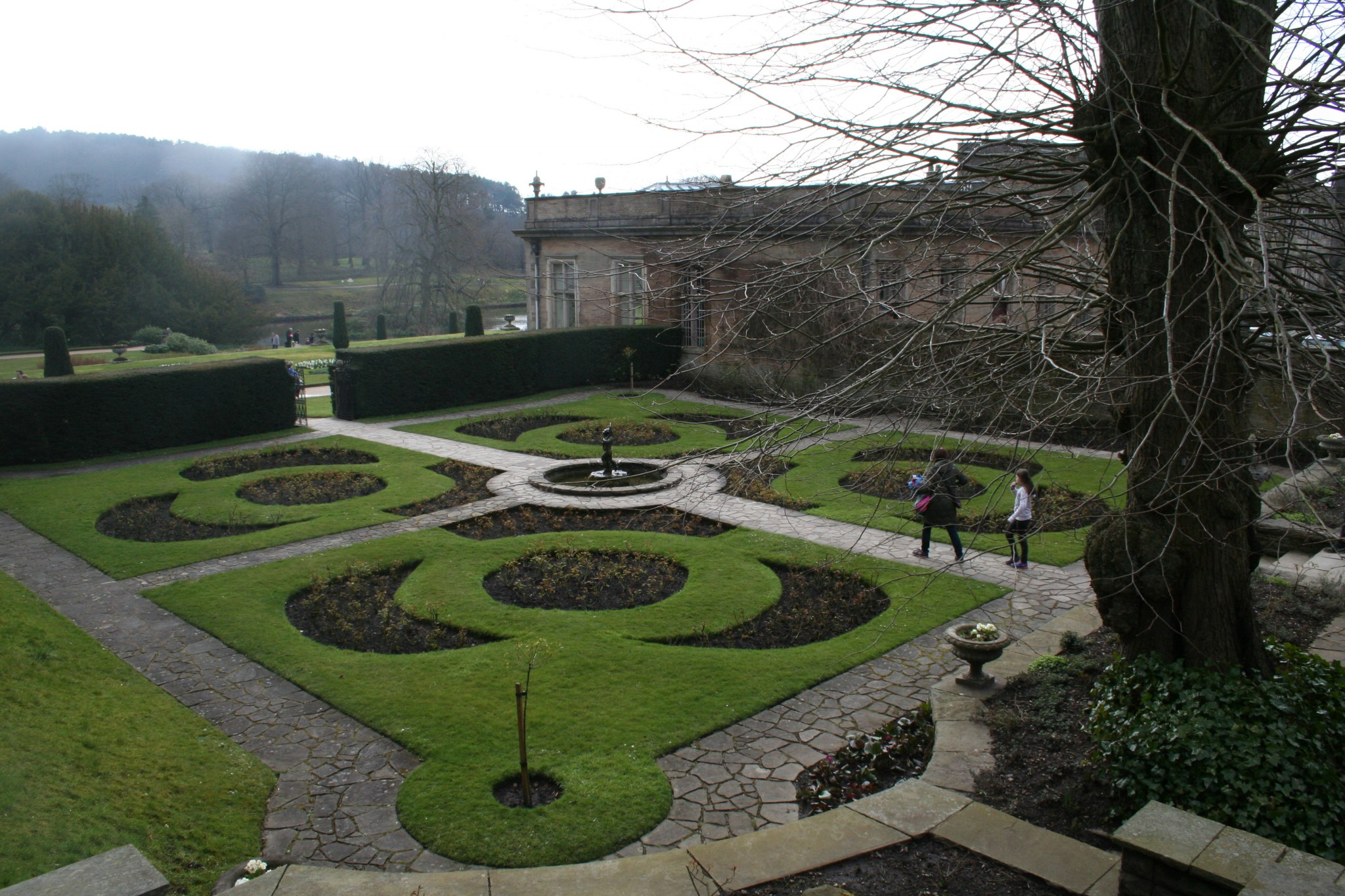 Italian Garden will be full of colour later in the season.
